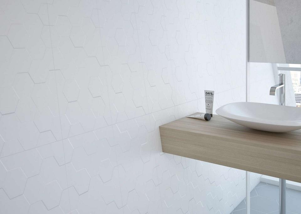 Moderne for Faience hexagonale